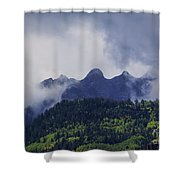 Storm In The San Juan Mountains Shower Curtain