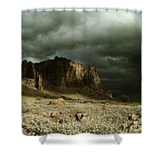 Storm In The Superstitions Shower Curtain
