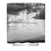 Storm Light On The Desert Shower Curtain