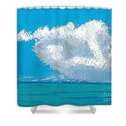 Storm Off The Beach Shower Curtain
