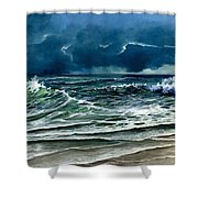Storm Off Yucatan Mexico Shower Curtain