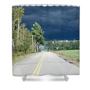 Storm On It's Way Shower Curtain