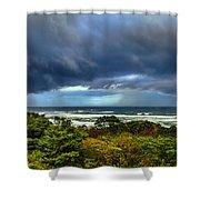 Storm On Oregon Coast Shower Curtain