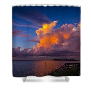 Storm On Tampa Shower Curtain