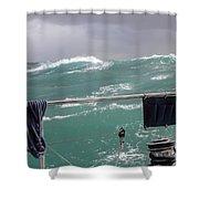 Storm On Tasman Sea Shower Curtain