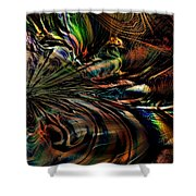 Storm On The Great Sea At Aquaran Shower Curtain