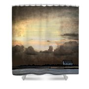Storm On The Water Shower Curtain