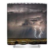 Storm Over Albuquerque Shower Curtain