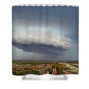 Storm Over Badlands 2am-115139 Shower Curtain