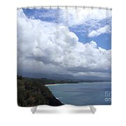 Storm Over Bali Hai Shower Curtain