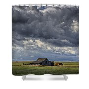Storm Over Barn Shower Curtain