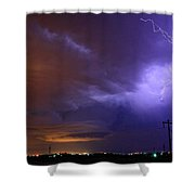 Storm Over Brush Shower Curtain