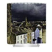 Storm Over Conwy Shower Curtain