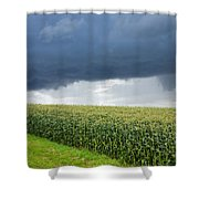 Storm Over Cornfield In Southern Germany Shower Curtain