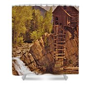Storm Over Crystal Mill Shower Curtain