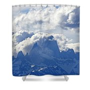Storm Over Fitz Roy 1 Shower Curtain