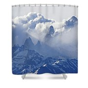 Storm Over Fitz Roy 2 Shower Curtain