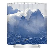 Storm Over Fitz Roy 3 Shower Curtain
