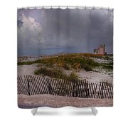Storm Over Gulf Shores  Shower Curtain