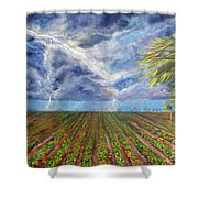 Storm Over Homestead Shower Curtain
