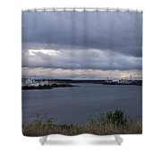 Storm Over Lake Manistee Shower Curtain
