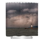 Storm Over Myers Point Shower Curtain