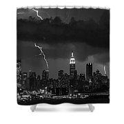 Storm Over Nyc  Shower Curtain