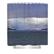 Storm Over Oban Bay Shower Curtain
