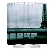Storm Over Paris Shower Curtain