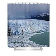Storm Over Perito Moreno Shower Curtain