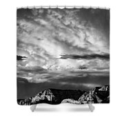 Storm Over Sedona Shower Curtain by Dave Bowman