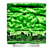 Storm Over The Emerald City Shower Curtain by David Patterson