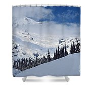 Storm Over The Summit Shower Curtain