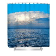 Storm Over Whitefish Bay Shower Curtain