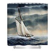 Storm Sailing Shower Curtain