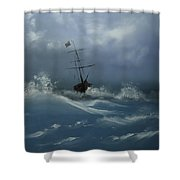 Storm Tossed Shower Curtain