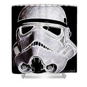 Storm Trooper Helmet Shower Curtain