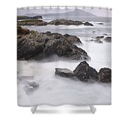 Storm Waves And Cliffs Shower Curtain