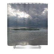 Stormclouds Over The Sea Shower Curtain