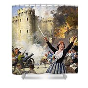 Storming The Bastille Shower Curtain