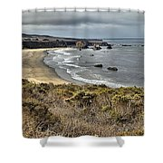 Storms Over An Unspoiled Beach Shower Curtain