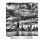 Storms Over Chicago Shower Curtain