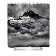 Storms Over Glaciers And Rugged Peaks Shower Curtain
