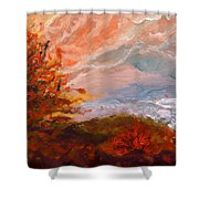 Stormy Autumn Day Shower Curtain
