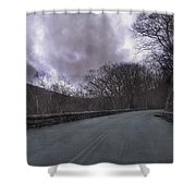 Stormy Blue Ridge Parkway Shower Curtain