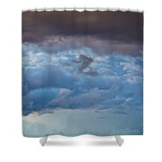 Stormy Blues - Casper Wyoming Shower Curtain
