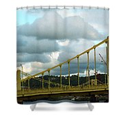 Stormy Bridge Shower Curtain by Frank Romeo