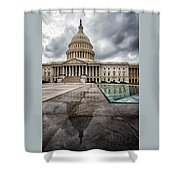 Stormy Capitol Day I Shower Curtain