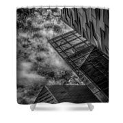 Stormy Clouds Over Modern Building Shower Curtain