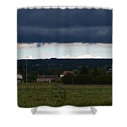 Stormy Countryside Shower Curtain
